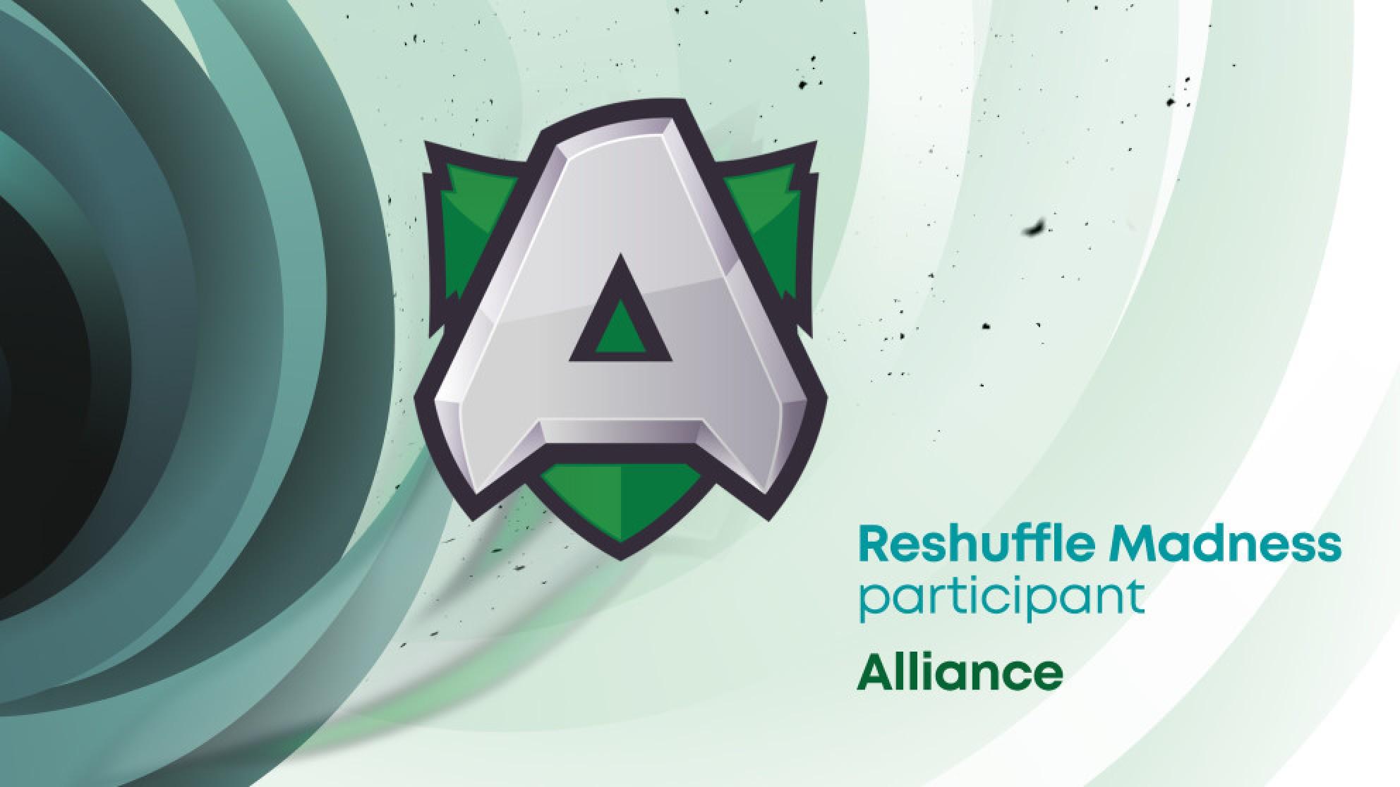 Alliance join WePlay! Dota 2 Reshuffle Madness