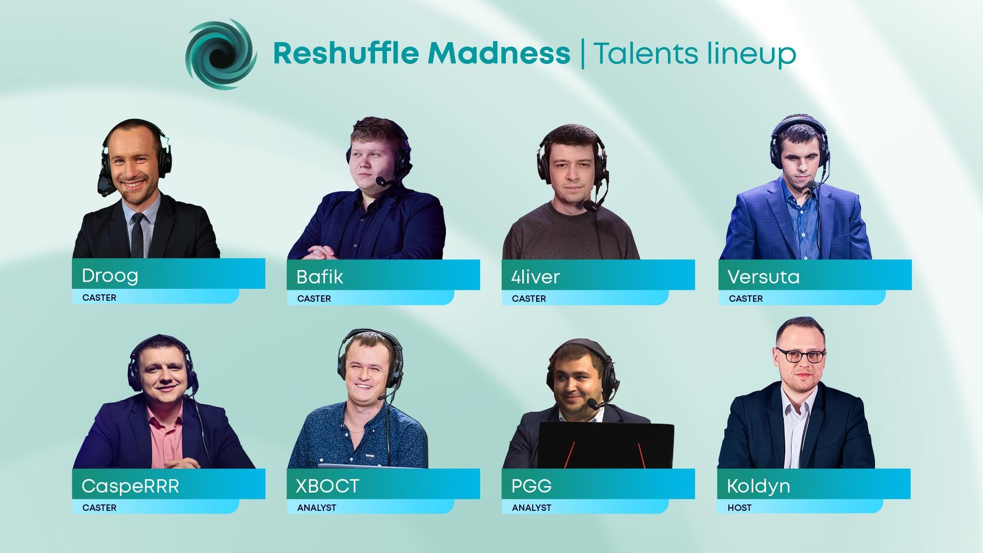 Список талантов Reshuffle Madness