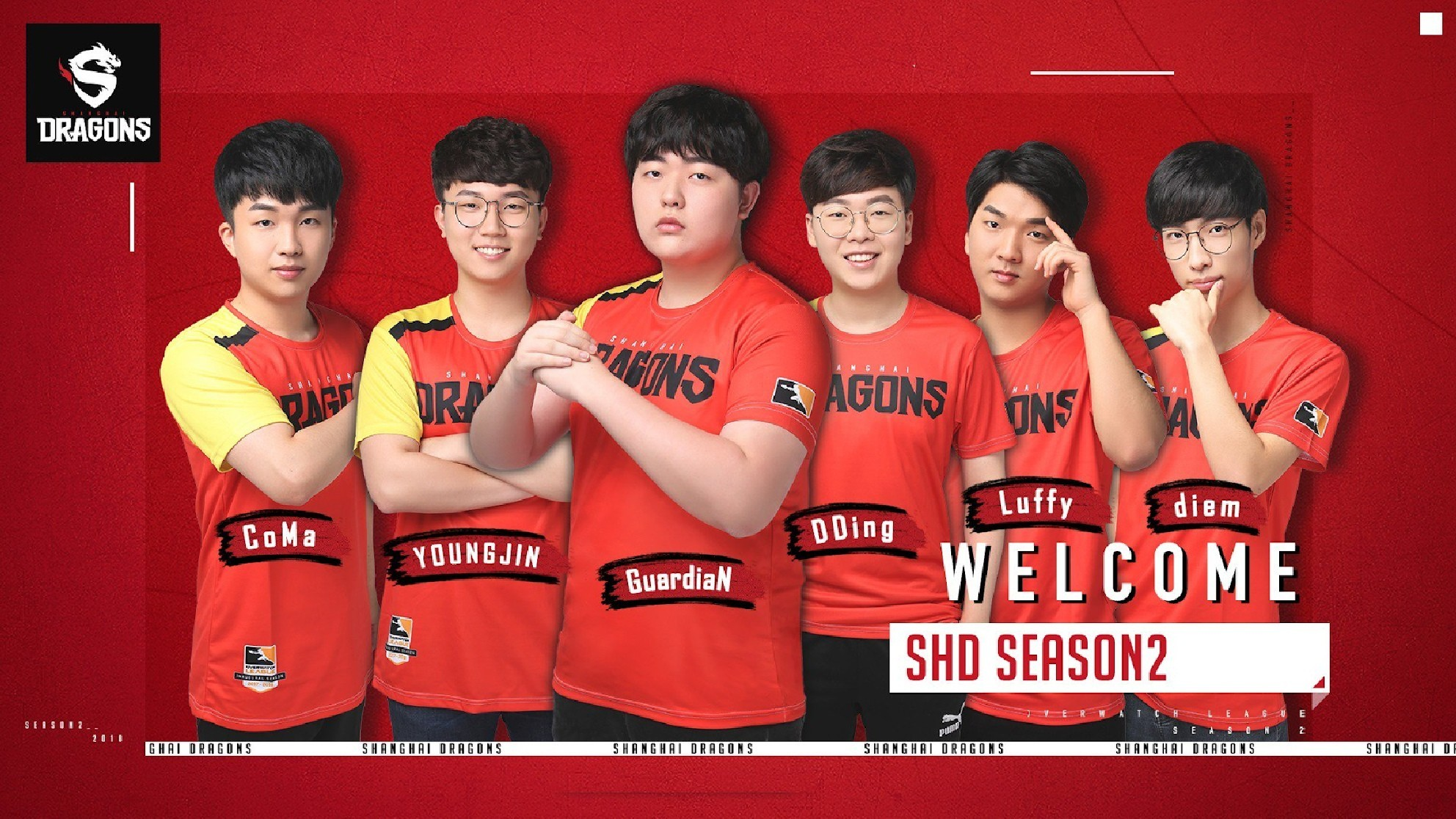 Shanghai Dragons sign new players