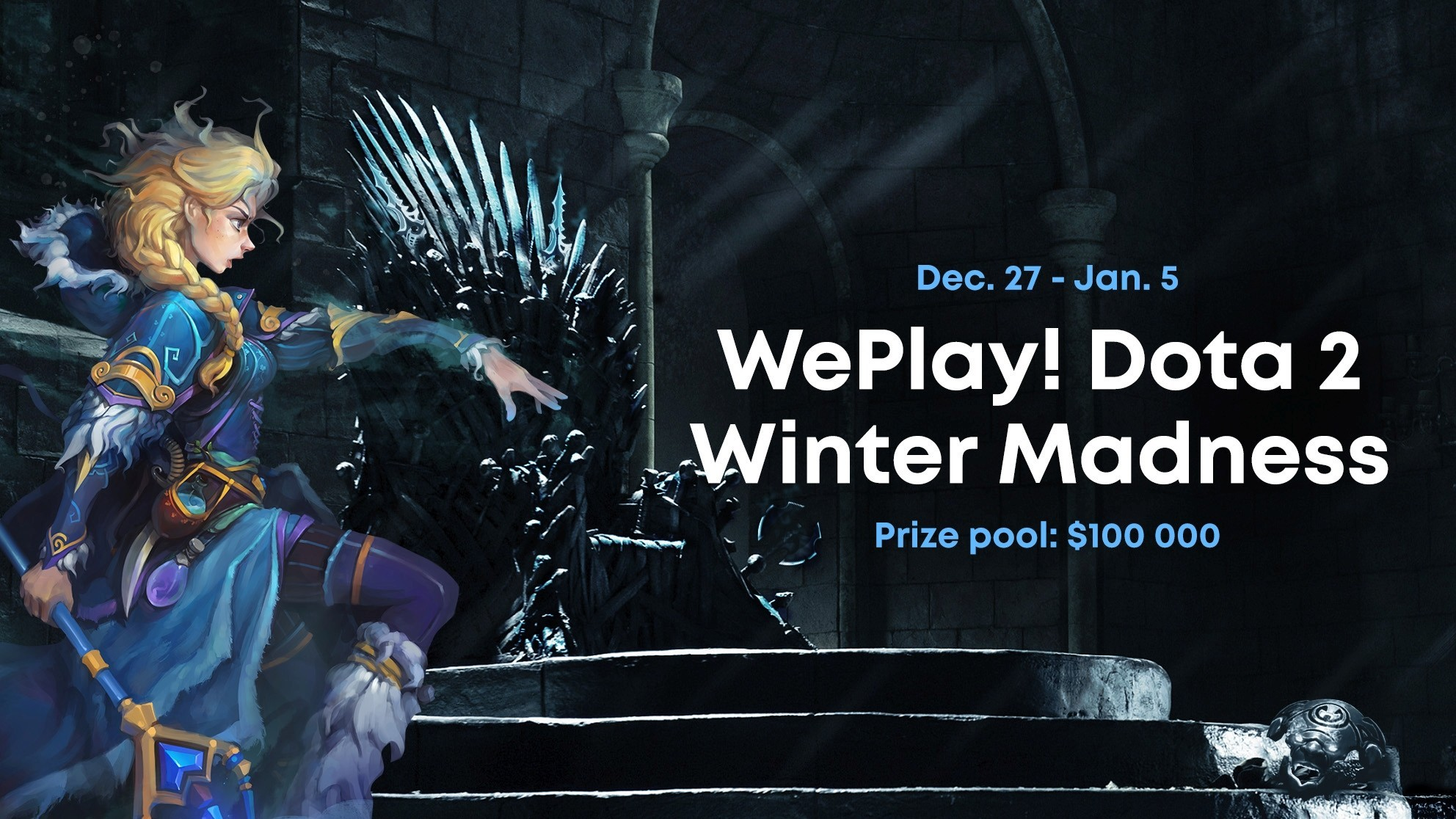 We are glad to announce the Winter Madness Dota 2 tournament