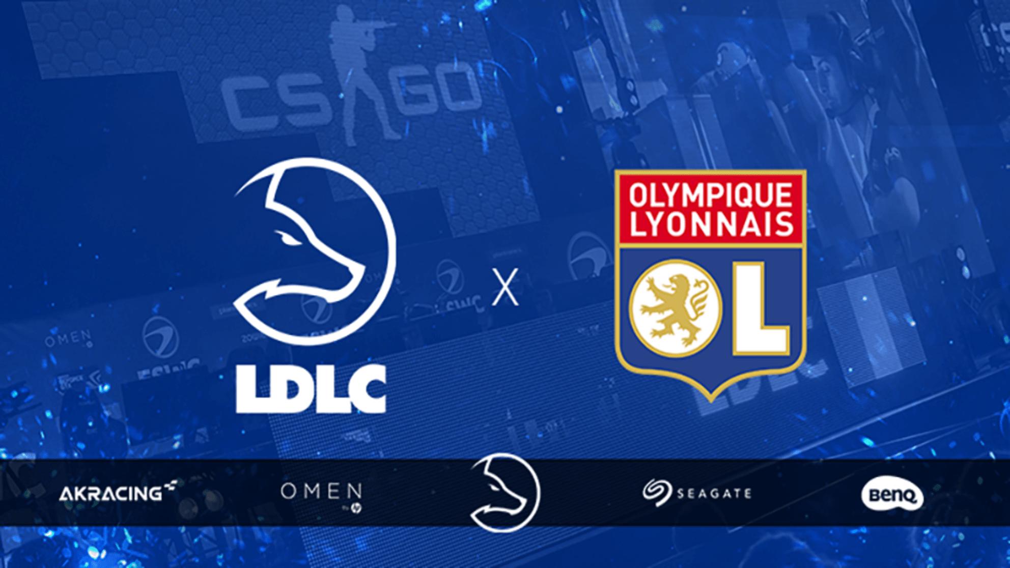 Team LDLC partners with Olympique Lyonnais; signs CS:GO team