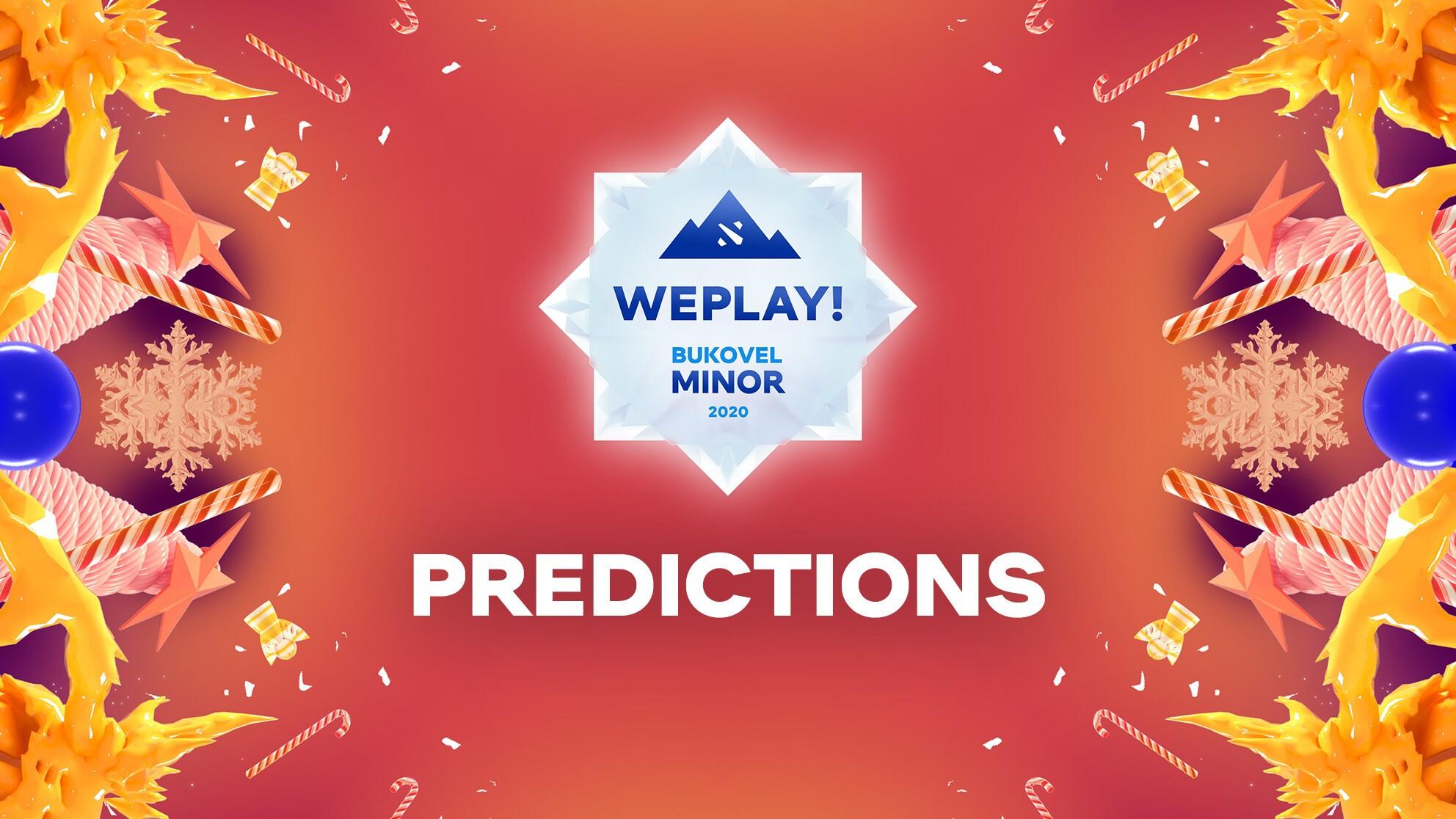 WePlay! Bukovel Minor 2020: Day 1 Predictions
