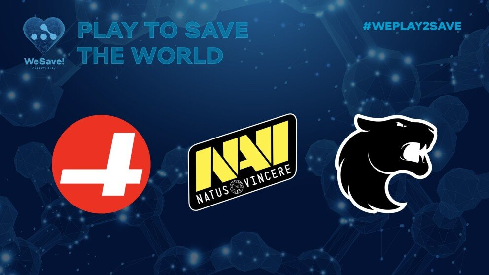 WeSave! newcomers: Furia, NAVI and CR4ZY